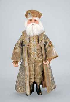 """Katherine's Collection The Gilded Seasons Collection 24"""" Celebrations Santa Claus Doll Free Ship"""