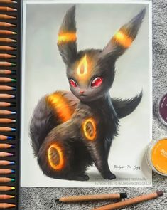 I tried my best with my colored pencil drawing of Umbreon. I hope that there wil. - I tried my best with my colored pencil drawing of Umbreon. I hope that there will be a chance to evolve it in Galar region! Cute Disney Drawings, Cute Animal Drawings, Cute Drawings, Drawings Of Pokemon, Pokemon Tattoo, Pokemon Fan Art, Pokemon Funny, Pokemon Pokemon, Pokemon Memes