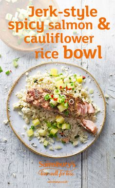 Mix up your salmon situation with this jerk recipe. Serve up with cauliflower rice for a light and tasty dinner.