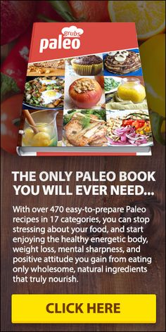 Now there's a collection of Paleo recipes from the folks over at Paleo Grubs that is catching on in a big way. The Paleo Grubs Book contains over 470 Paleo recipes so you'll never have to wonder what to make. Paleo Snack, Paleo Diet Food List, Paleo Dessert, Vegetarian Paleo, Paleo Recipes Easy, Clean Recipes, Diet Recipes, Zone Recipes, Clean Foods