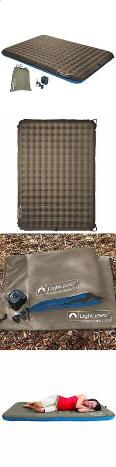 Camping Sleeping Pad - Other Camping Sleeping Gear 16040: Camping Air Bed Inflating Mattress Travel Outdoor 2 Person Hiking Sleeping Pad BUY IT NOW ONLY: $122.3