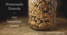 Looking for a delicious, nutrient dense recipe for homemade granola? This is it!