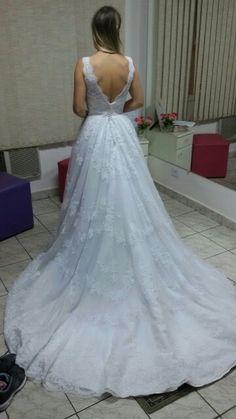 Edione. Fizemos os ajustes do vestido de noiva dessa linda