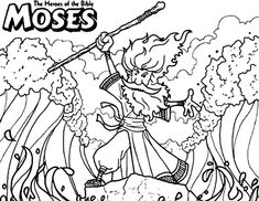 45 Elegant Photography Of Moses Red Sea Coloring Page – Are your kids bored or drained? Are they on the lookout for one thing fun. Farm Animal Coloring Pages, Bible Coloring Pages, Coloring Pages For Kids, Coloring Books, Coloring Sheets, Bible Crafts, Bible Art, Moses Red Sea, Sunday School