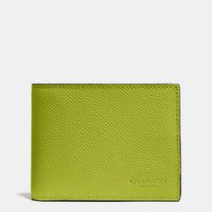 Coach is a New York modern luxury brand established in 1941. Coach brings sophistication, authenticity and timeless style to its womens and mens lifestyle collections. Find out more about SLIM BILLFOLD WALLET IN CROSSGRAIN LEATHER at Coach.com.