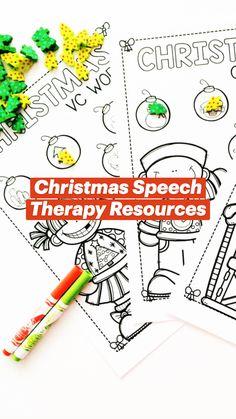 Speech Language Therapy, Speech Pathology, Speech And Language, Articulation Activities, Speech Therapy Activities, Easy Peasy Homeschool, Christmas Themes, Christmas Crafts, Christmas Speech Therapy