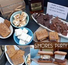 Throw a gourmet S'MORES party! Tips + ideas plus recipes too!