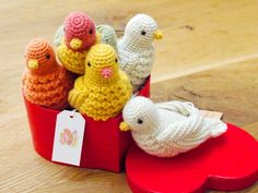 Amigurumi birds http://chisako3.exblog.jp/page/3/ - no pattern but may be able to find on ravelry