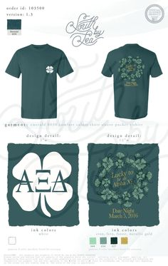 Alpha Xi Delta | AXiD | Lucky to Be an Alpha Xi | Date Night St. Patricks Day Mixer | Date Dash Design | South by Sea | Greek Tee Shirts | Greek Tank Tops | Custom Apparel Design | Custom Greek Apparel | Sorority Tee Shirts | Sorority Tanks | Sorority Shirt Designs