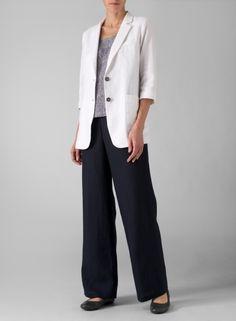 MISSY Clothing - Linen Single Breasted Jacket