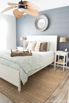 Beautiful Coastal Farmhouse tour! Weathered finishes, DIY touches, and neutral colors make this coastal Texas home a retreat. http://www.tableandhearth.com
