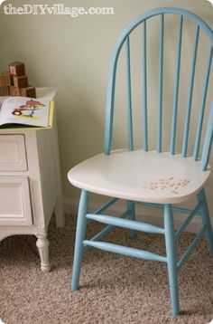1000 Images About Stenciled Chairs On Pinterest Chair
