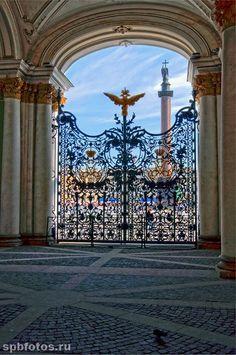 Арка ворот Зимнего дворца