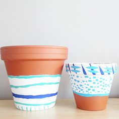 HelloUnicorn.com  Turquoise, White & Blue Decor ~Pots and Planters, SET OF 2, Succulent Planter, Housewarming Gift Set, Boho decor, Indoor planters, Dorm Room  https://www.etsy.com/ca/listing/472844996/turquoise-white-blue-decor-pots-and