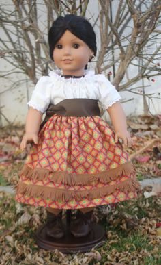 American Girl Camisa and Skirt in Red and by RuthielovestoSew, $36.00