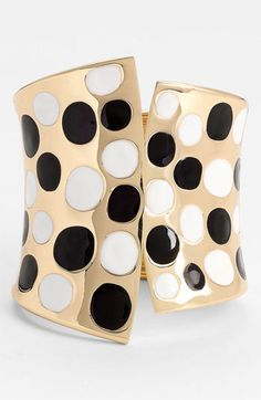 [Dotty Cuff - Natasha Couture @ Nordstrom] Cuffs rarely fit my wrists, but I do love the look of this one. Might give it a try.