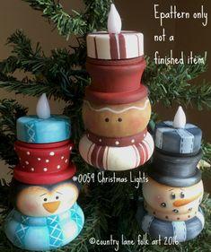 EPATTERN 0059 Christmas lights paint your por countrylanefolkart