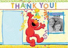Sesame Street photo card, thank you card