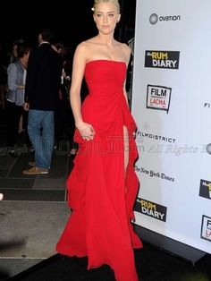 Sheath/Column Chiffon Tube Top Strapless Natural Floor-length Split Front Celebrity/Evening Dresses