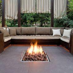 Manhattan Concrete Natural Gas Fire Pit Table   Gas fire pit table ...