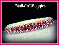 Dark Rose & Diamond Crystal Pink Velvet Cat Collar made with Swarovski Crystals