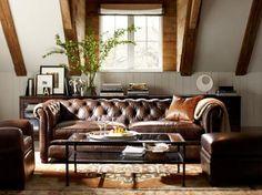 Room Decorating Ideas, Room Décor Ideas & Room Gallery | Pottery Barn basement room idea