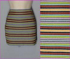*CHARLOTTE RUSSE size XL stripe stretch mini skirt BANDAGE BODYCON multicolor *