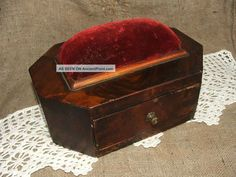C. 1840 wooden sewing box - from ancientpoint.com