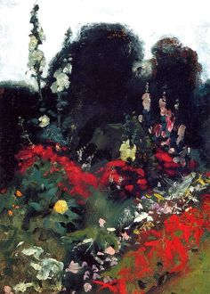 John Singer Sargent - Corner of a Garden, 1879. Oil on canvas, 35.6 x 25.4 cm