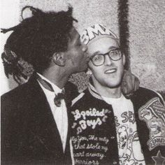 Jean-Michel Basquiat and Keith Haring. My two favorite artist in one photo. YAAAAAASSSSSSSS!!!!!!!!!!