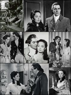 Tyrone Power and Ann Blyth 'The House on the Square' (later titled 'I'll Never Forget You') at Denham Studios, UK, 29th March 1951.