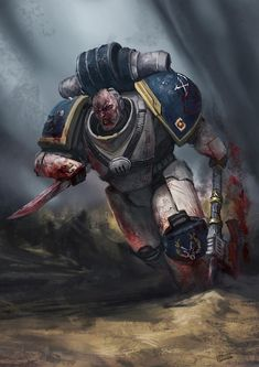 Warhammer Paint, Warhammer 40k Art, Warhammer 40k Miniatures, Warhammer Fantasy, The Horus Heresy, Space Wolves, The Grim, Space Marine, Sci Fi Fantasy
