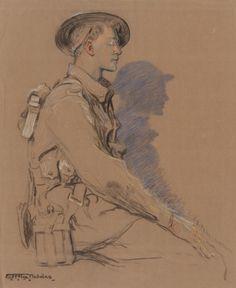 """Hilda Rix Nicholas 1916 """"Unknown Soldier"""""""