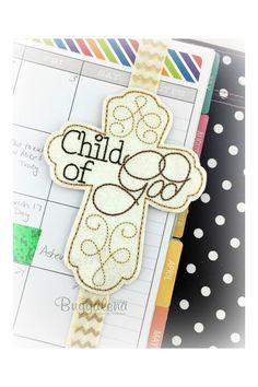 In The Hoop Child of God Elegant Cross BuggaBand Slider Embroidery Design