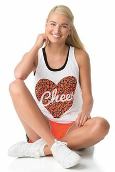 Animal Print Heart Loose Tank - Cheer Our in-stock campwear gets you ready in style! Show your spirit with this Varsity exclusive – an original just like you! Our team has this out fit!