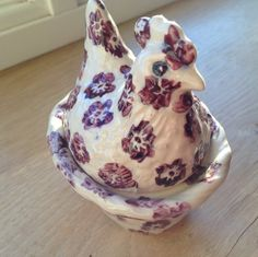 Emma Bridgewater Purple Flowers egg coddler