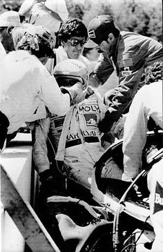 Mosport CanAm Race  1985   Manfred Winkelhook misjudged turn 2 and crashed head-on into a concrete wall, suffering massive head injuries. It took one hour to free him. He died the next day at the hospital.