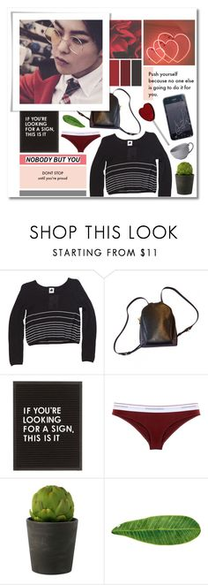 """""""nobody but you"""" by emilypondng ❤ liked on Polyvore featuring Louis Vuitton, Dsquared2, Abyss & Habidecor, Juliska, cool, red, kpop and EXO"""