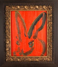 Red Bunny | From a unique collection of paintings at https://www.1stdibs.com/art/paintings/