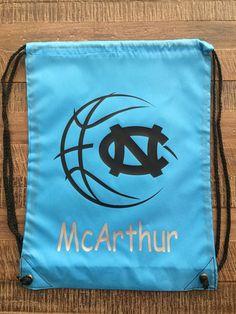 UNC Carolina Baseketball Drawstring Bag/Backpack by MyLittleGaggle on Etsy https://www.etsy.com/listing/521351874/unc-carolina-baseketball-drawstring