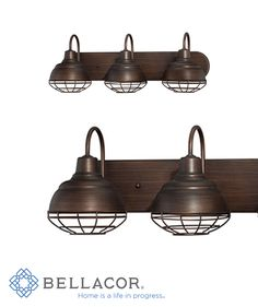 This vanity fixture from Millennium Lighting's Neo-Industrial collection embraces a beautiful Rubbed Bronze finish. http://www.bellacor.com/productdetail/millennium-lighting-5423-rbz-neo-industrial-rubbed-bronze-three-light-vanity-fixture-1502259.htm?partid=social_pinterestad_1502259