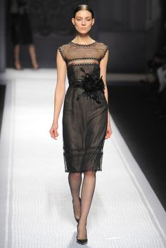 Alberta Ferretti..love the sheer top