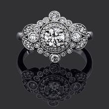 Great Gatsby 18ct white gold with total diamond weight 0.70ct ...pinned by ♥ wootandhammy.com, thoughtful jewelry.