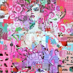 Full Volume Floral, Pink, original on canvas <i>by Derek Gores</i>