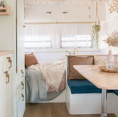 Our RV Renovation Photo Gallery   MountainModernLife.com Rv Interior, Interior Design, Travel Trailer Remodel, Travel Trailer Decor, Airstream Renovation, Camper Makeover, Cozy Fireplace, Remodeled Campers, House On Wheels