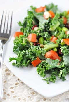 Kale & Edamame Salad: A Vegan & Gluten Free Delight by Jennifer Leal @savorthethyme