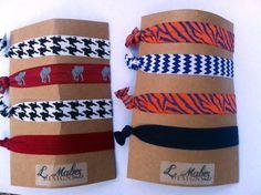 Auburn University Hair Ties Set of 4 by lmabesdesigns on Etsy, $4.00