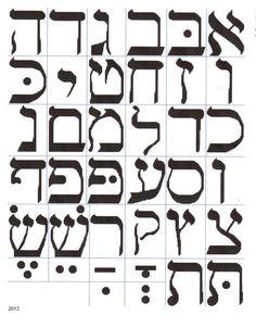 Hebrew Alphabet or Lettering Cross Stitch Pattern