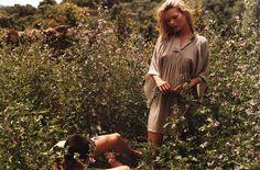 Vogue Italia Oct 2000 'Love & Adios' - Tyson Ballou & Kate Moss by Bruce Weber