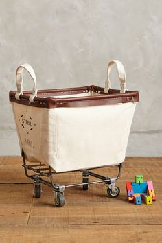 Steele Canvas Basket Corp. Small Mobile Canvas Bin